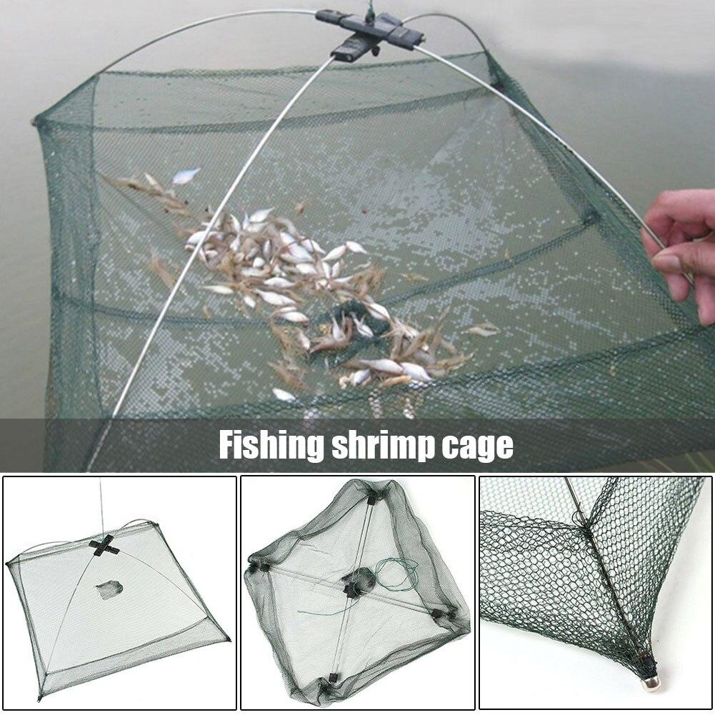 Filet de pêche plié portatif appâts maille piège Durable pour crevette méné écrevisse FK88