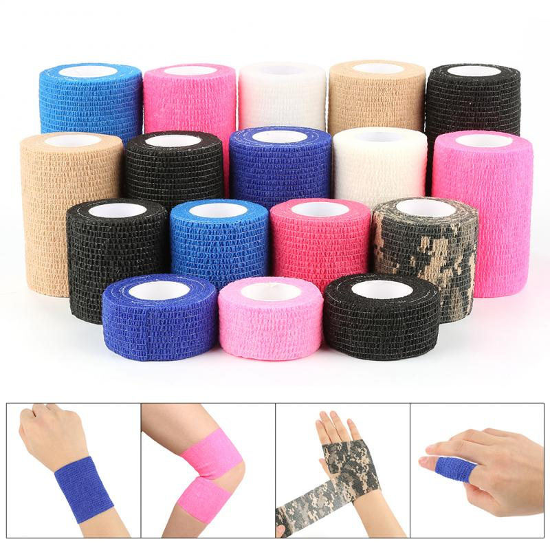 Outdoor Equipment Athletic Wrap Tape Self Adhesive Elastic Bandage Sports Protector Knee Finger Ankl