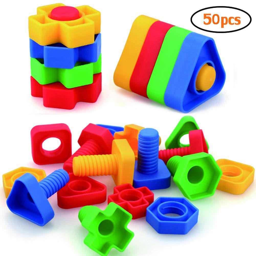 Tuercas y pernos Hobbylane, juguetes para niños pequeños, juguetes para niños pequeños, vástago educativo para construcción, actividades a juego de tornillos
