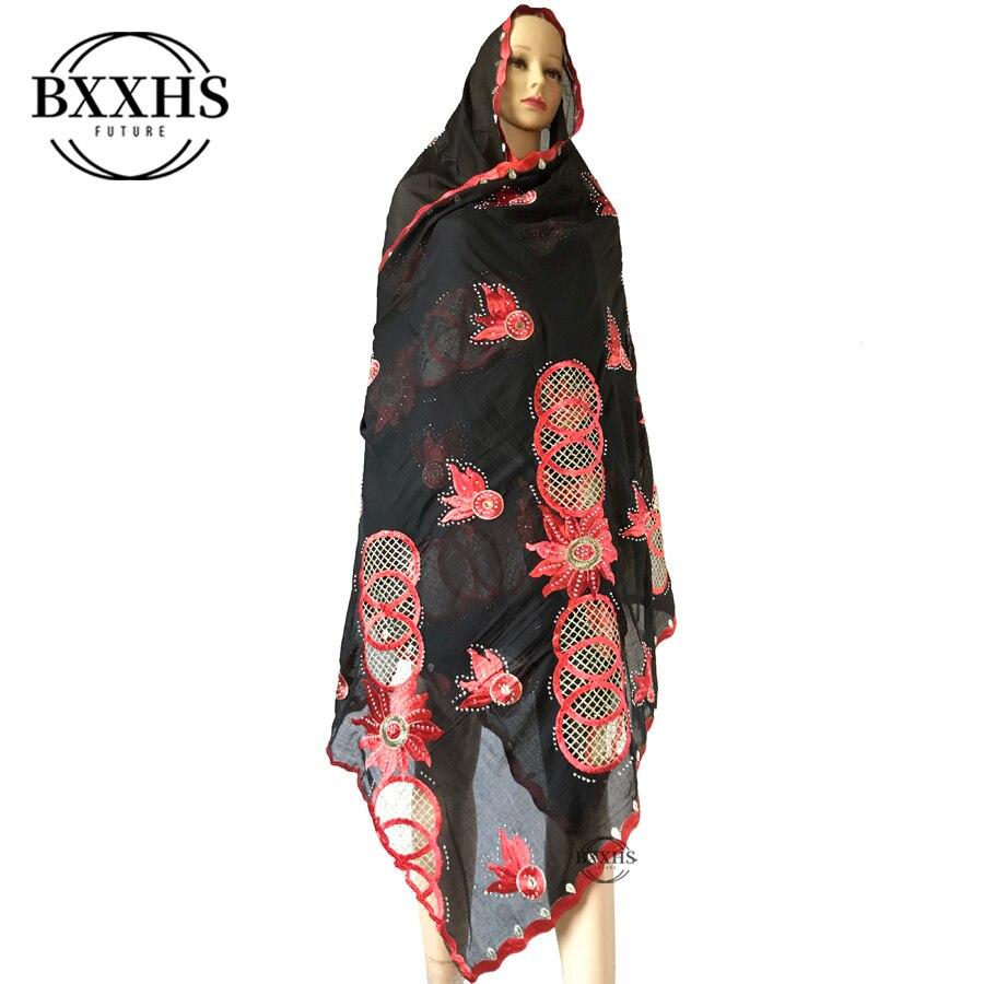 2020 mulheres africanas 100% algodão cachecol muçulmano mulheres hijab scarfs tamanho grande cachecol de algodão para xales orar xales