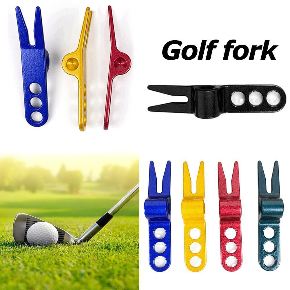 1pcs Aluminum Alloy Golf Accessories Putting Green Fork Golf Tool Golf Pitch Fork Outdoor Golf Course Accessories Tools