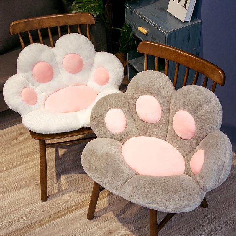 لطيف القط باو عودة الوسائد أفخم مخدة كرسي الحيوان الطفل وسادة مقعد أريكة حصيرة المنزل أريكة ارضيات داخلية الشتاء ديكور هدية
