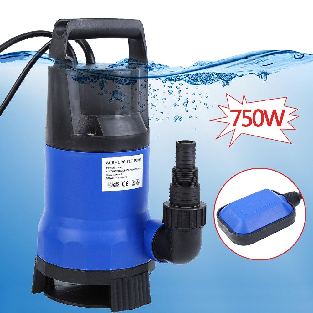 (Dostawa z USA) 1HP 750W czyste brudne zatapialne pompa wodna basen staw Flood Drain Pump