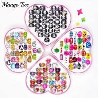 36pcs aesthetic acetate childrens cartoon ring acrylic thick leopard print cute girl jewelry birthday gift boxes