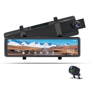Phisung S16 4K mirror video camera night vision camera 12 inch touch screen DVR camera + rear view camera