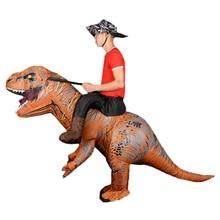 Mascotte gonflable dinosaure T REX Anime Cosplay pour adultes hommes femmes enfants Dino dessin animé Costume