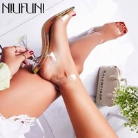 pvc transparent buckle crystal cup heel women sandals high heels size 35 42 open toe sexy party nightclub sandals snake pattern