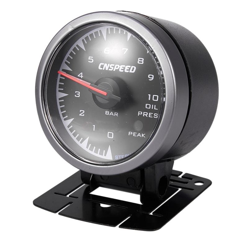 Medidor electrónico de presión de aceite de 2,5 pulgadas y 60mm con Sensor y esfera de tiburón