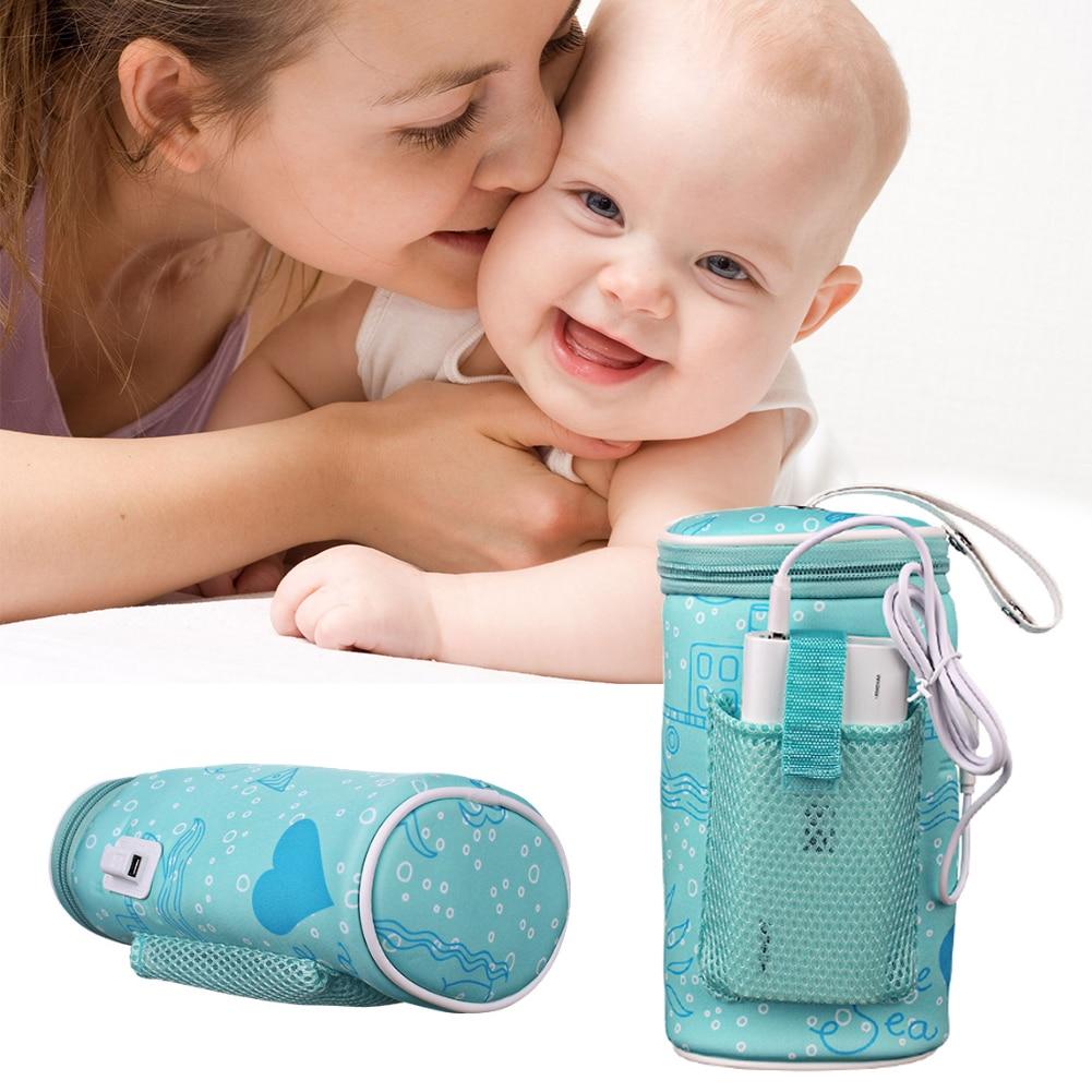 Детский подогреватель для бутылок с молоком, термостат, сумка для автомобиля, портативный подогреватель с USB, интеллектуальный инструмент д...