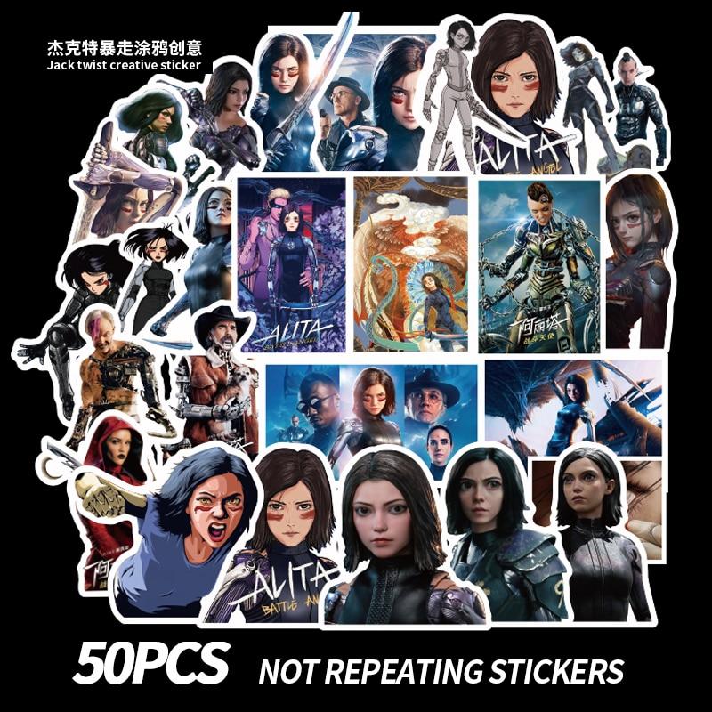 50PCS New Alita: Battle Angel Stickers Decal Waterproof For On Suitcase DIY Laptop Guitar Skateboard Sticker