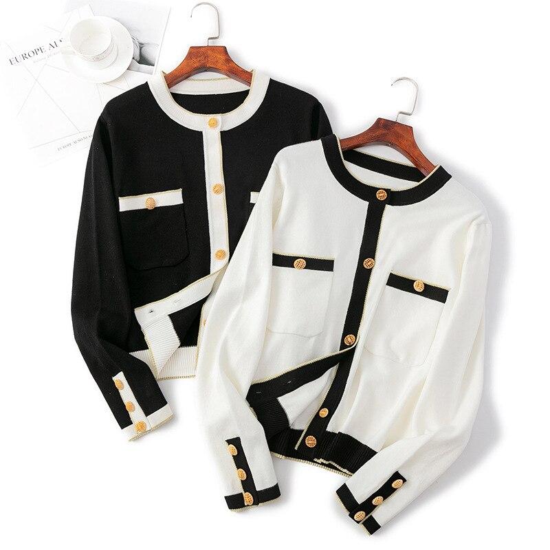 Осенне-зимние вязаные женские кардиганы с V-образным вырезом, женские однобортные свитера, женские повседневные кардиганы, трикотажная вер...