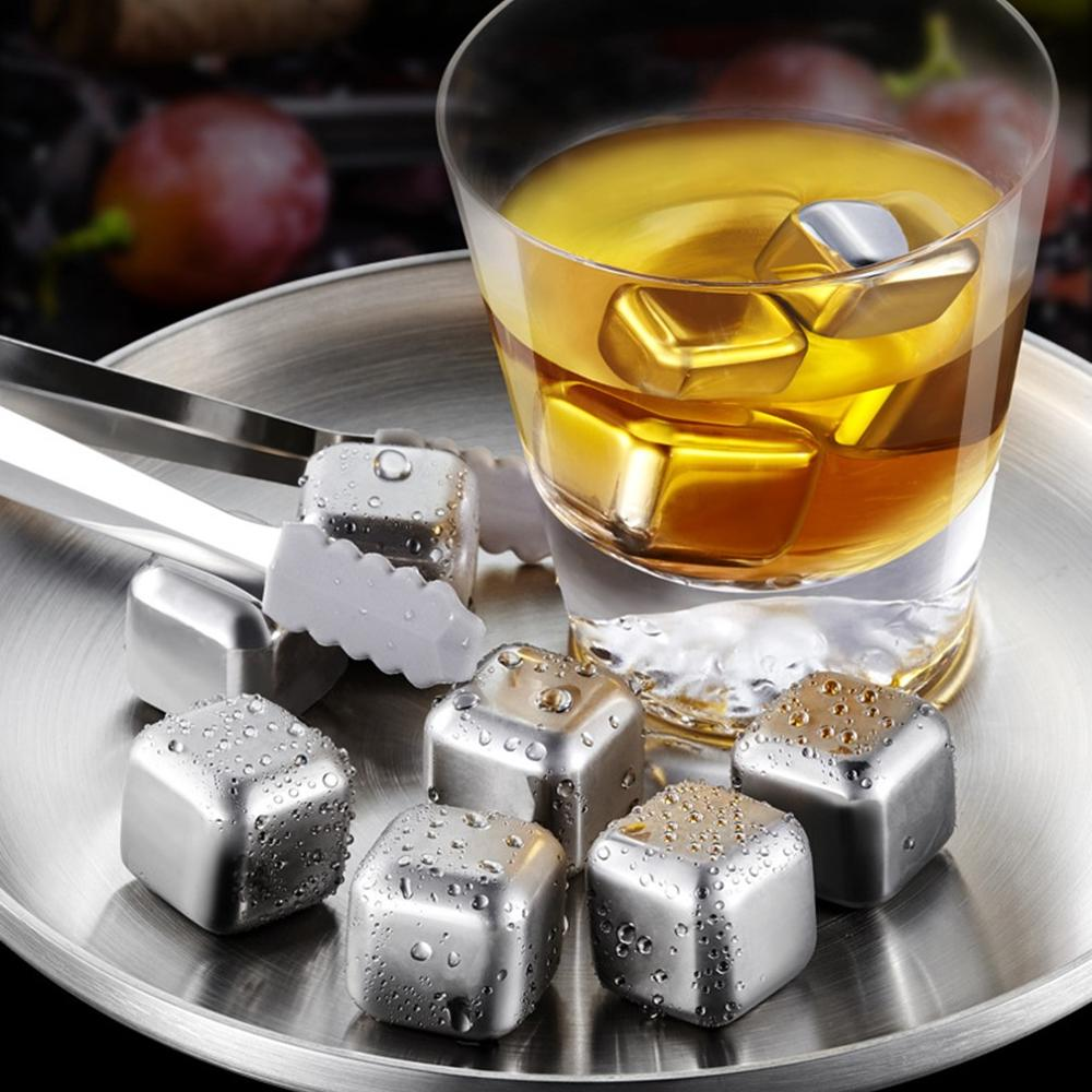 Bandeja para cubitos de hielo, enfriadores de piedras de acero inoxidable, accesorios...