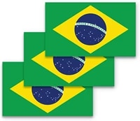 brazilian flag car stickers suitable for computer stickers trunk stickers wall bumper stickers waterproof