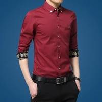 long sleeve shirt men fashion slim dress shirts cotton brand male social shirt casual spring autumn mens shirts business