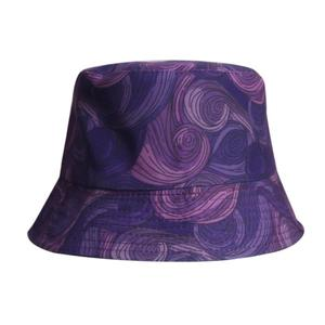 2021 Cotton four seasons Spiral Print Bucket Hat Fisherman Hat Outdoor Travel Hat Sun Cap for Men and Women 415