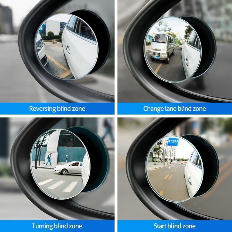Accesorios de coche pequeño espejo redondo espejo retrovisor para coche punto ciego de ángulo amplio de la lente 360 grados de rotación ajustable para Opel