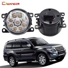 Cawanerl 2 Pieces Car Light LED Daytime Running Light Fog Lamp DRL 12V For Mitsubishi Pajero 4/IV Van V80 V90 Box 2007-2015