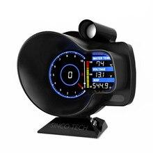 Racing OBD2 tête haute affichage voiture tableau de bord numérique Boost jauge vitesse RPM eau huile Temp tension EGT AFR voiture mètre alarme DO916