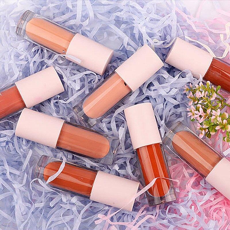 10 шт. 4 мл розовая глазурь для губ блеск для губ трубка пустая кисть для ресниц контейнер Эфирная масляная помада палочка бальзам для губ мно...