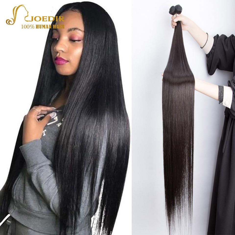 Joedir Straight Brazilian Hair Weave Bundles Deal Human Hair Extension 8 To 40 Inch Remy 1/3/4 X Rea