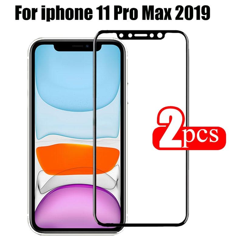 2 pçs/lote proteção de vidro para iphone 11 pro protetor de tela 3d no para apple iphone 11 pro max 2019 iphon11 temperado filme