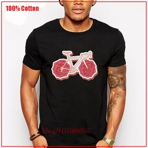 Bike Mountainbike Roadbike MTB Gift Idea T-Shirt Male Hot Summer crew neck Short Sleeves Anti-Wrinkle Cotton Pop Homme Top Tee