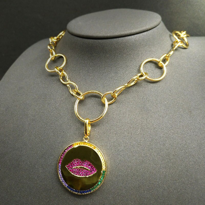 Collar de plata de ley 925 para mujer de producto dorado amarillo...