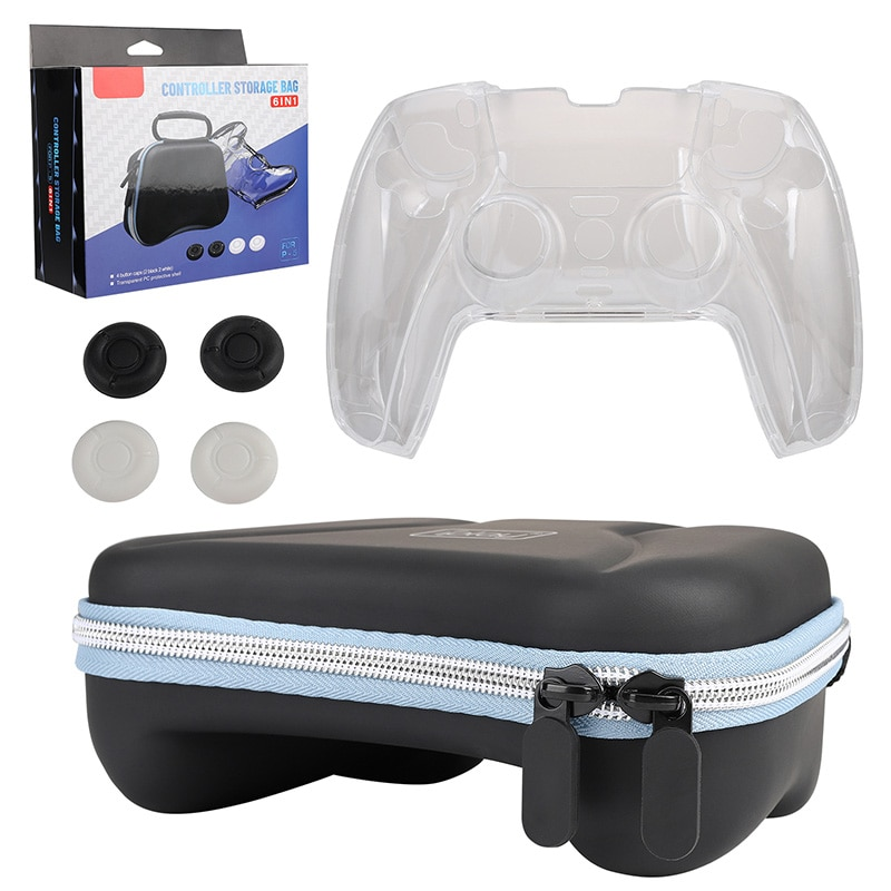 Suitable For ps5 Gamepad And Small Accessories Storage Bag ps5 Controller Joystick Silicone protective Bag,Compatible With ps5
