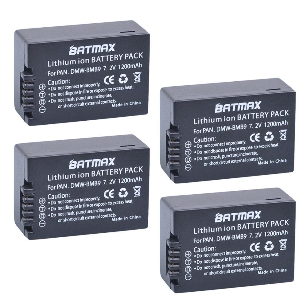 Bateria do li-íon da câmera de batmax 1200mah DMW-BMB9 para panasonic lumix DMC-FZ40K, fz45k, fz47k, fz48k, fz60, fz70, fz100, fz150