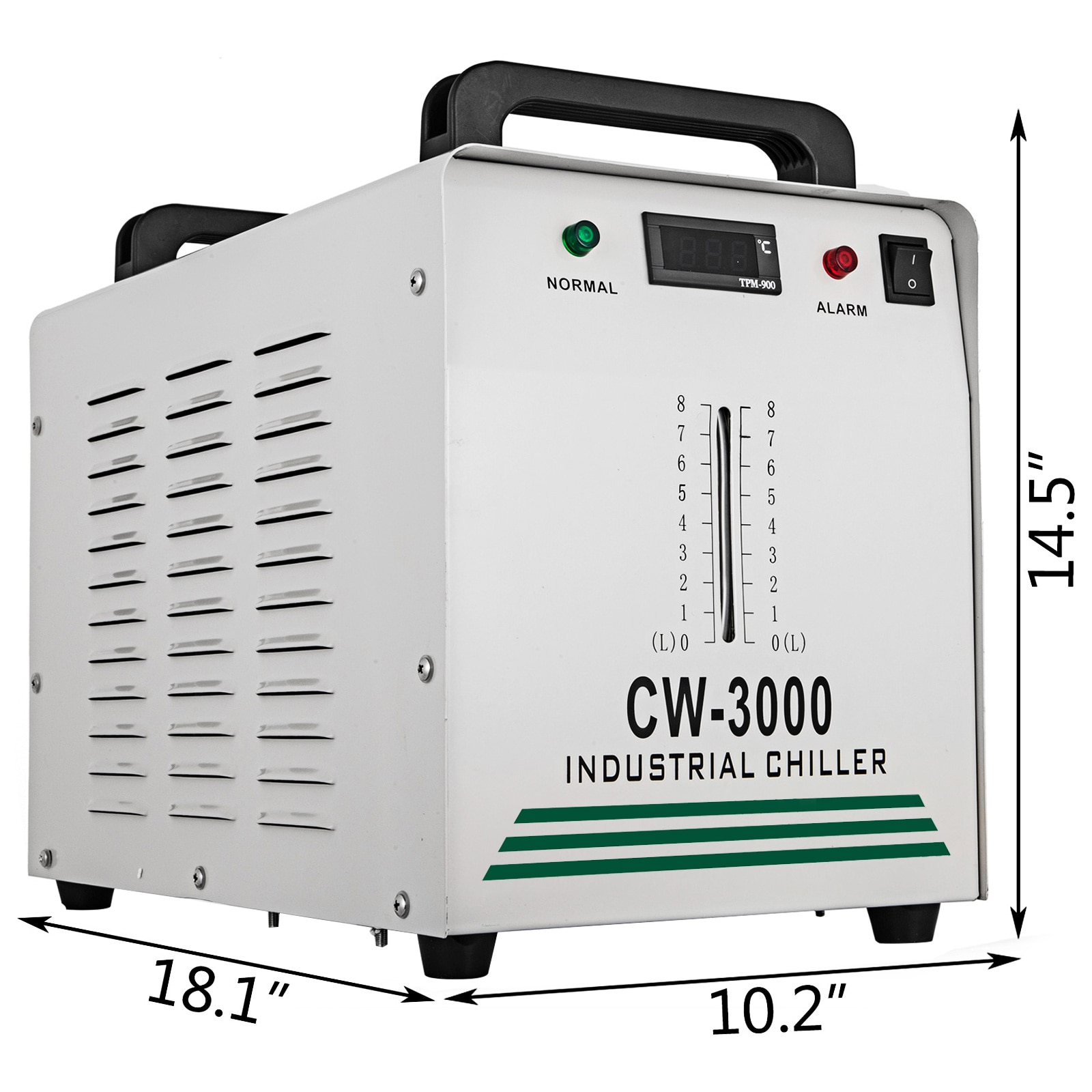 VEVOR 8.5 L CW-3000 Thermolysis Industrial Water Chiller Cooler for Cooling CNC Engraving Machine CO2 Laser Glass Tube 60W/80W enlarge