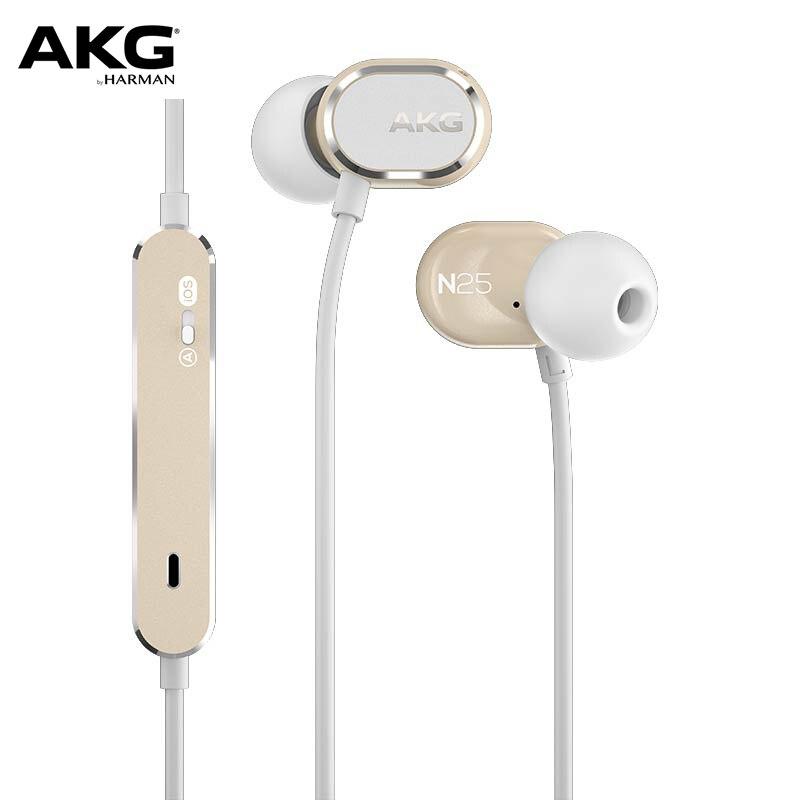 In-ear com Fio Fones de Ouvido com Microfone Fone de Ouvido de Alta Fidelidade para Android Original Música Iphone – Ipad Ipod Akg N25 Ios