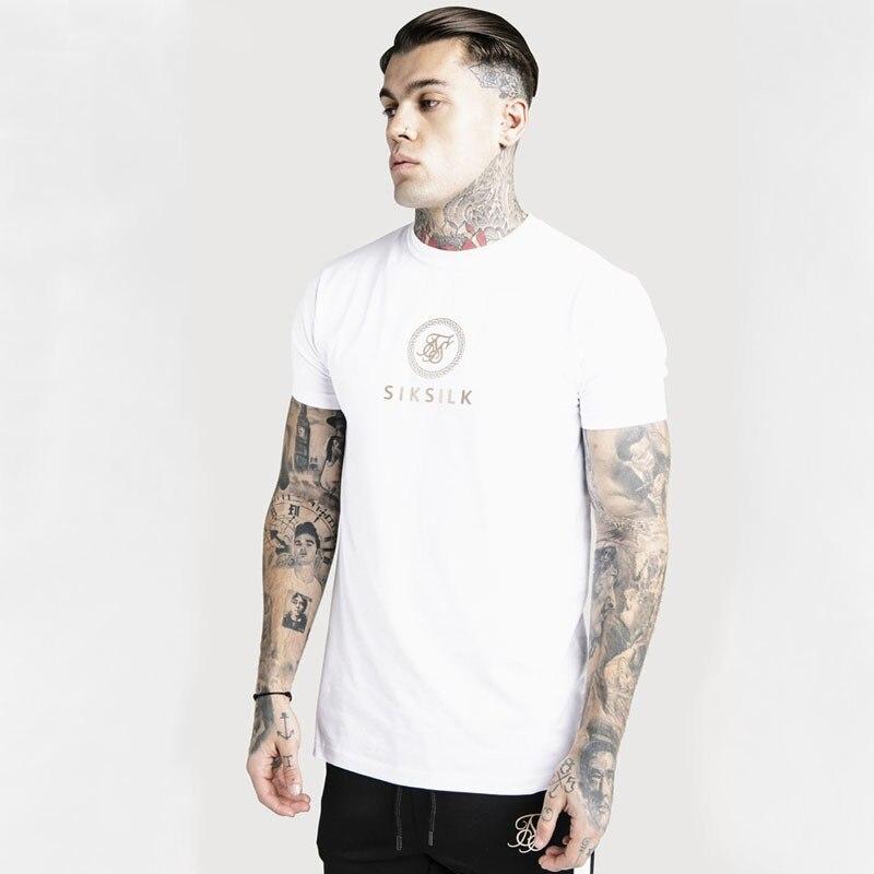 Мужская футболка с модным принтом siksilk, Мужская футболка с коротким рукавом, летняя новая мужская повседневная футболка, Мужская Уличная футболка в стиле хип-хоп