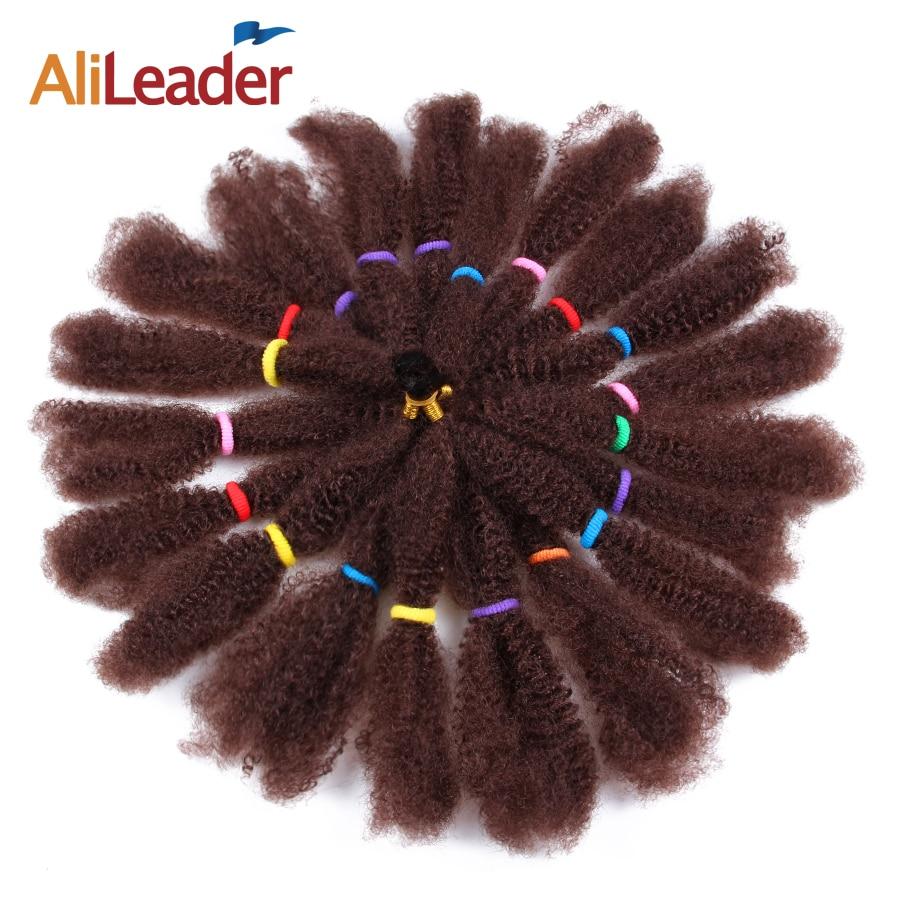 alileader 5 unidades pacote afro kinky tranca a granel synthetich cabelo 12 12 preto
