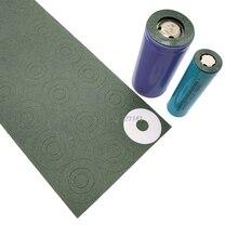 Paquete de 10 hojas de papel de cebada 32650 1S, Junta aislante de batería, almohadillas de pegamento aislante de celda de batería con parche adhesivo trasero
