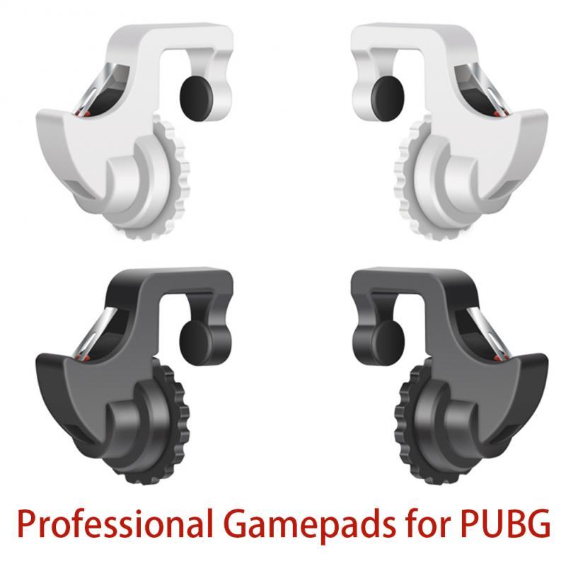 Mando de doble uso profesional para teléfonos inteligentes, 1 par, con dos botones de disparador para PUBG