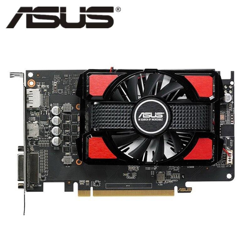 Оригинал ASUS RX 550 4 Гб видеокарта AMD Radeon RX550 4G видеокарты GPU PUBG компьютерная игра Настольный ПК карта 570 560 550 VGA DVI