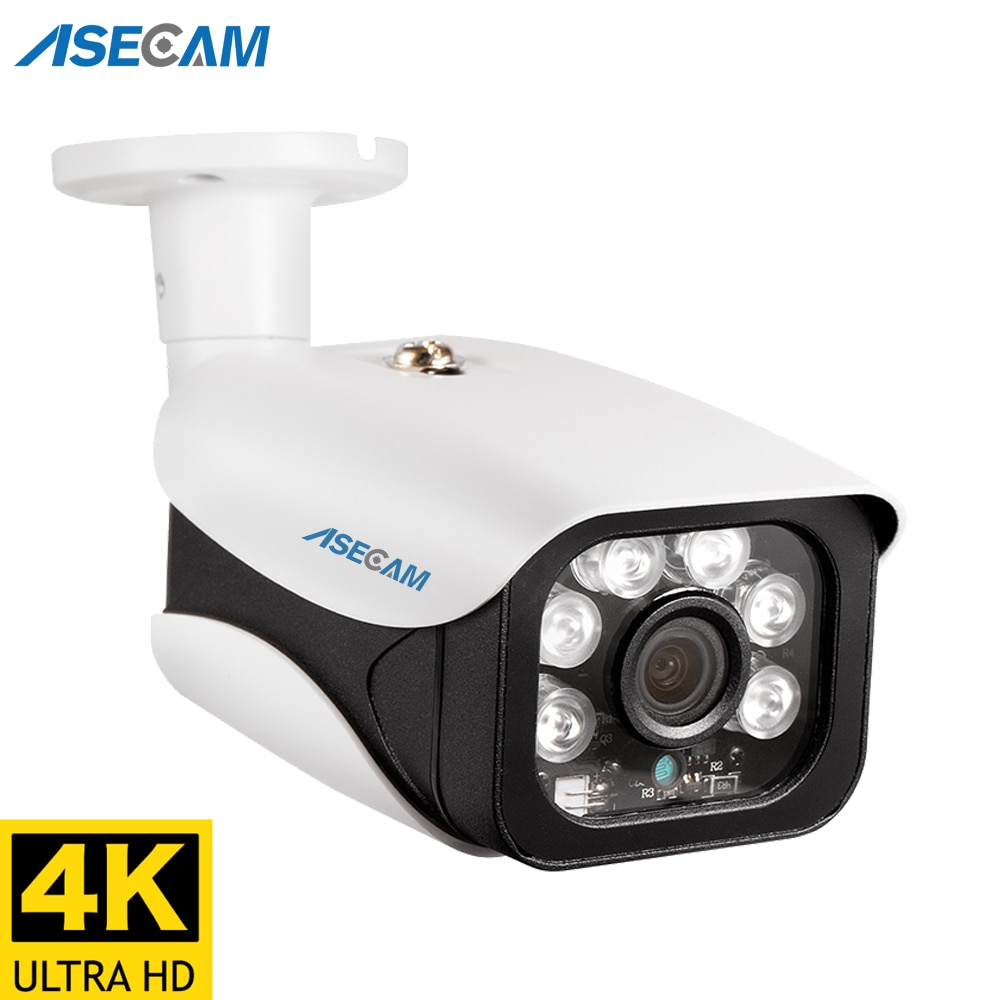 8MP 4K كاميرا IP في الهواء الطلق H.265 Onvif رصاصة CCTV صفيف للرؤية الليلية الأشعة تحت الحمراء 4mp POE كاميرا مراقبة الفيديو
