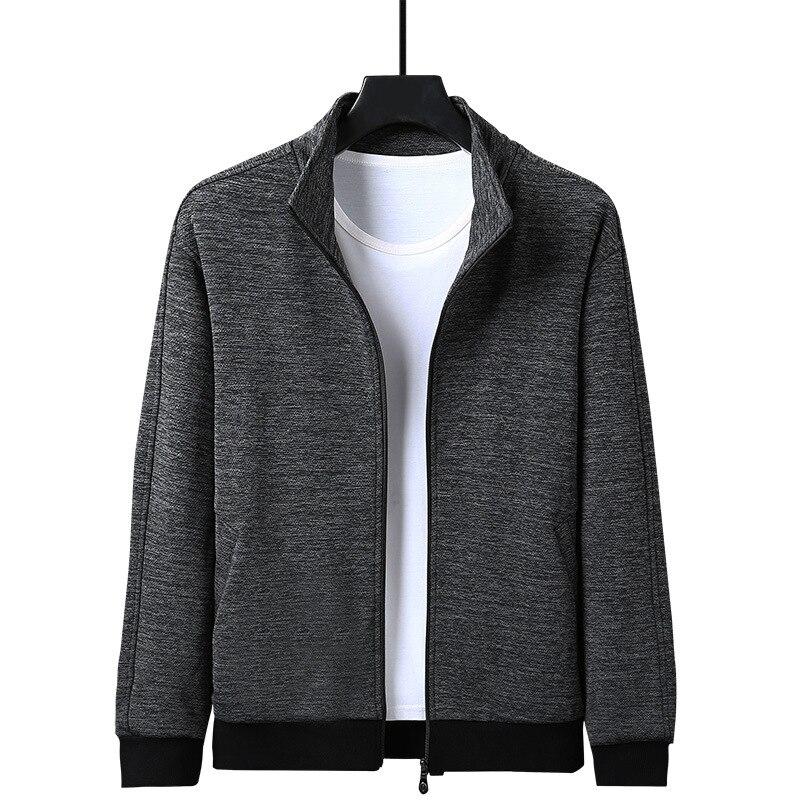 Casual sudadera chaqueta hombres 2020 Otoño Invierno últimas chaquetas más terciopelo manga larga cremallera bajo elástico abrigo para joven Sportwear