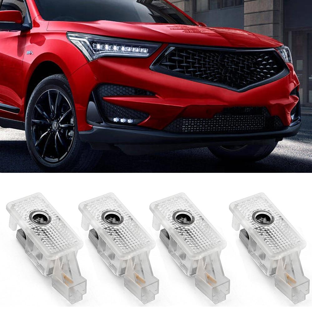 4 шт., Автомобильные светодиодные лампы-проекторы для дверей