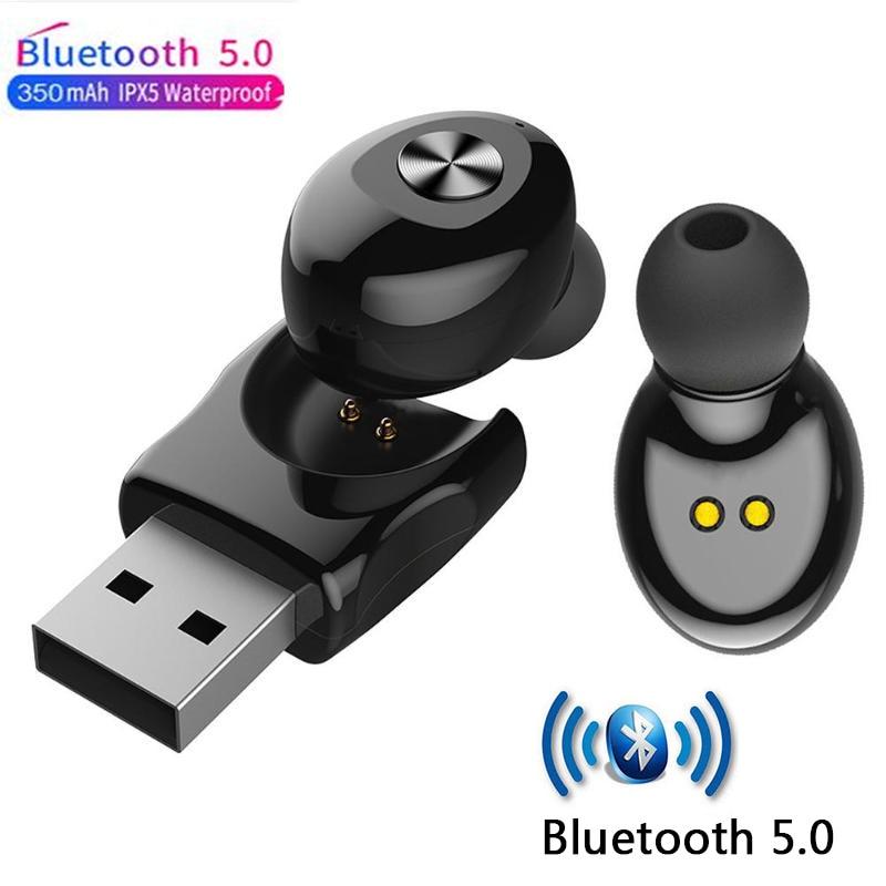 5,0 XG12 auriculares deportivos inalámbricos Bluetooth en la oreja sonido HIFI carga USB auriculares impermeables para iPhone iPad teléfono Tablet