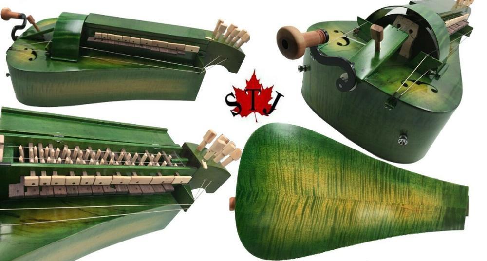 Órgano de mano de madera de arce bonito, color verde, 6 cuerdas,...