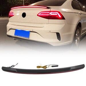Streamer Car Rear Tail Trunk Spoiler Wing Lip Cover Trim Spoilers w/ LED Brake Tail Light For Mazda 3 Axela 2012-2016 2017 2018