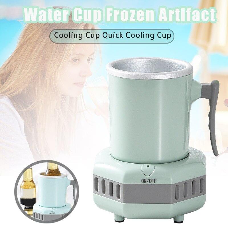 Enfriador de bebidas inteligente, taza enfriadora rápida, enfriador eléctrico, Mini refrigerador de escritorio para vino Cola L5