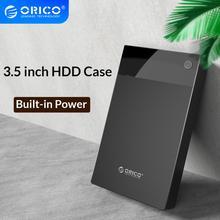 Чехол для жесткого диска ORICO 3,5 ''с питанием от Bulit-in SATA к USB 3,0 Корпус для жесткого диска 5 Гбит/с супер скоростная поддержка 12 ТБ HDD UASP для ПК ТВ PS4