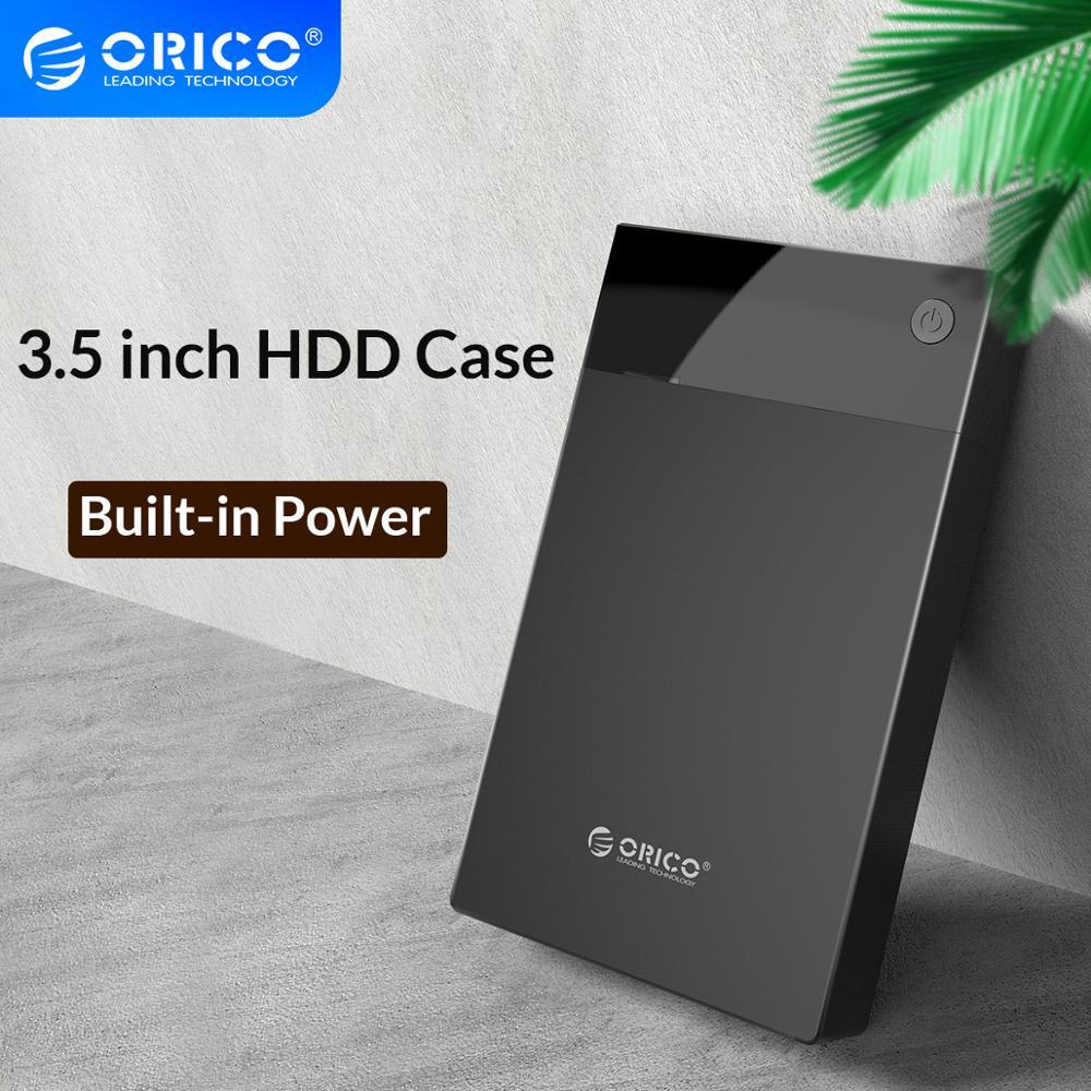 Orico 3.5 hdd hdd hdd caso bulit-em potência sata para usb 3.0 disco rígido gabinete 5 gbps super velocidade suporte 12 tb hdd uasp para tv pc ps4