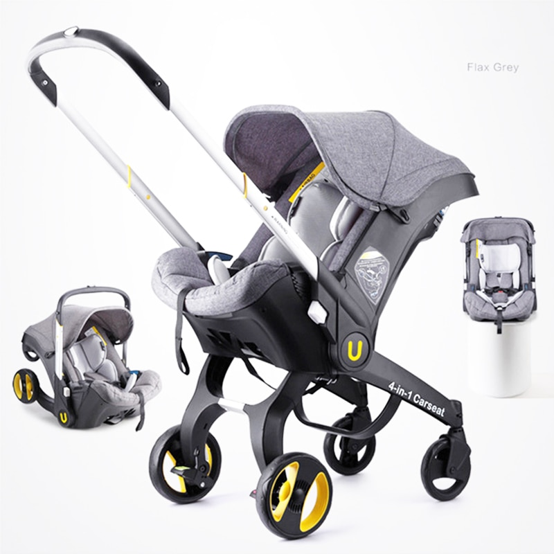 Baby Carriage 2021 New Four-in-oneNewborn Car Seat Cradle Multifunctional Lightweight Folding Two-way High Landscape Stroller