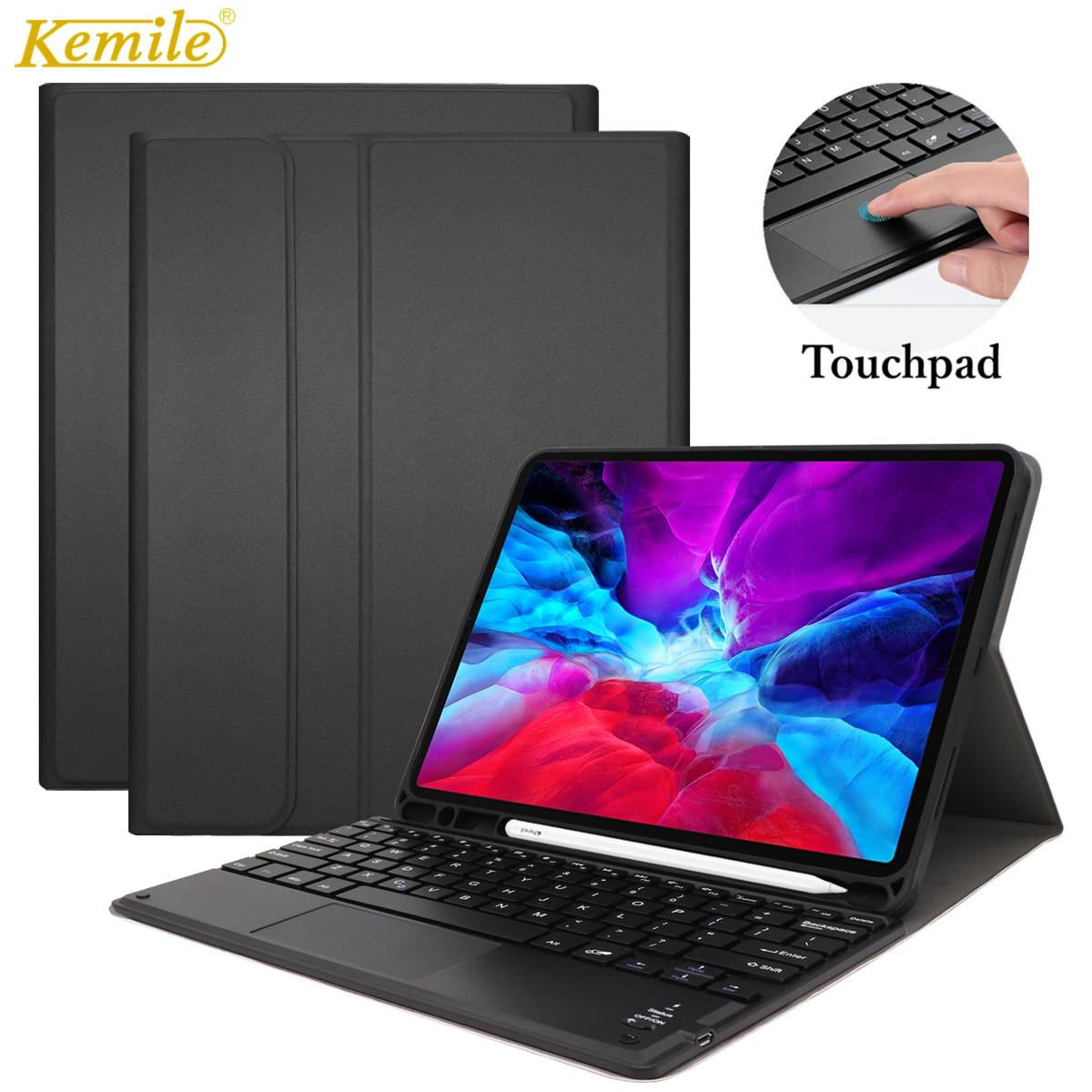 لوحة اللمس لوحة المفاتيح حالة لباد الهواء 4 10.9 2020 غطاء لوحة المفاتيح W قلم رصاص حامل حالة الذكية لباد الهواء 4 10.9 بوصة حالة لوحة المفاتيح