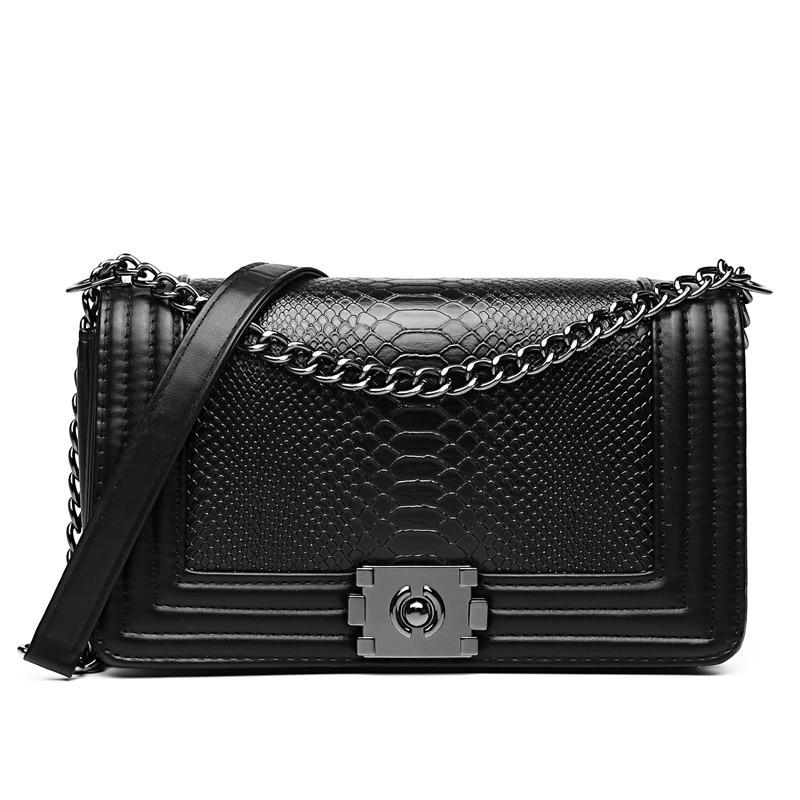 Designer purse female single Shoulder Bag Luxury Brand Women Bag Snake Crossbody bag for Women Leather Handbags Sac A Main