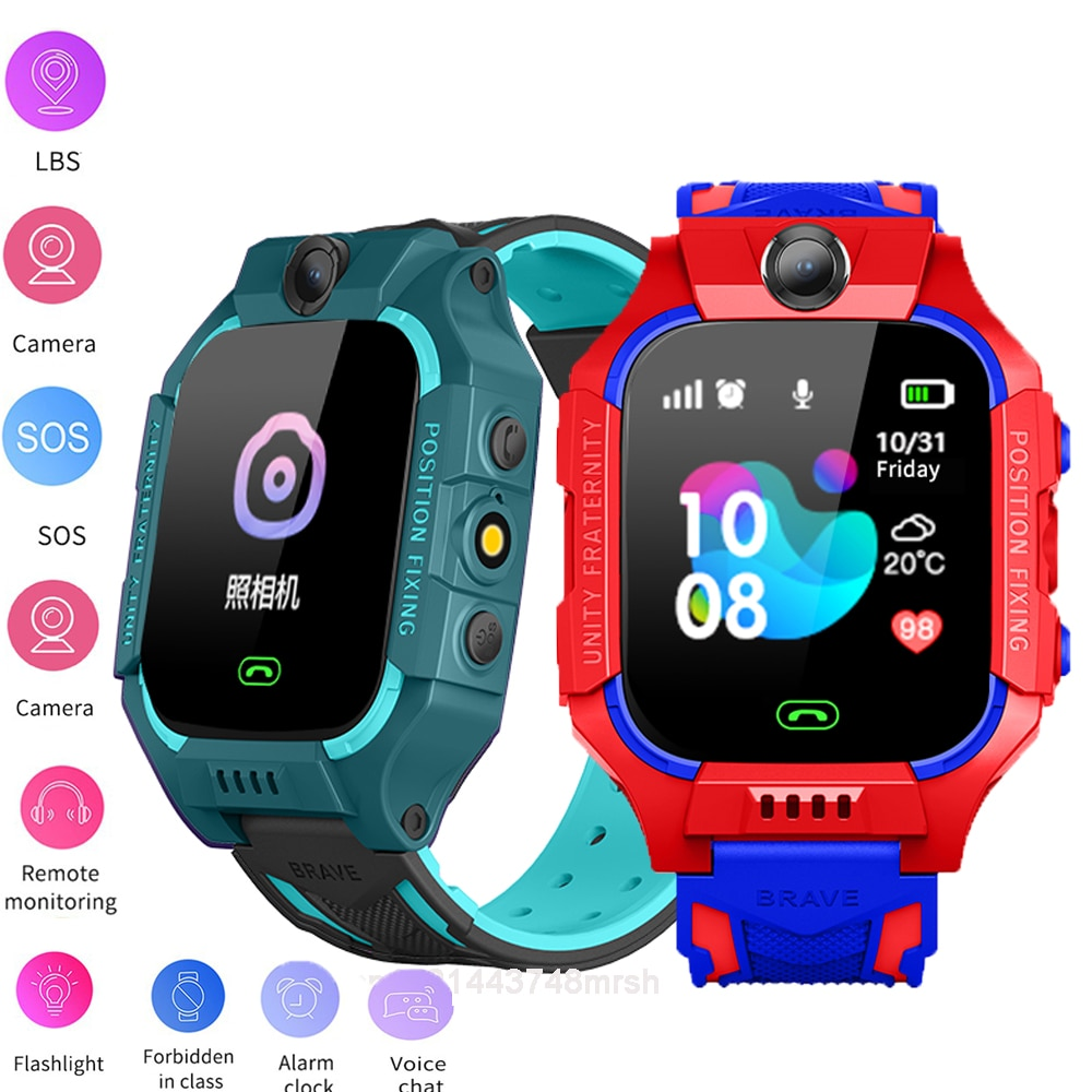 New Waterproof Kids Smart Watch for Children SOS Call Phone watches Use SIM Card Photo IP67 Boy Girl Gift For IOS Android