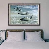Peinture classique retro avec 10 operations de vol davion de guerre T050  affiche en soie personnalisee  decoration murale  cadeau de noel